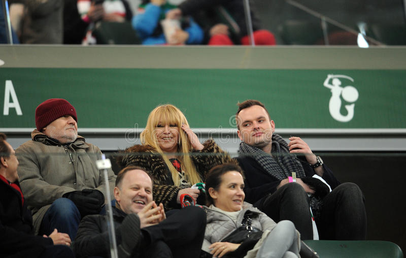 T-передвижная дополнительная лига Legia Варшава Jagiellonia Bialystok стоковые изображения