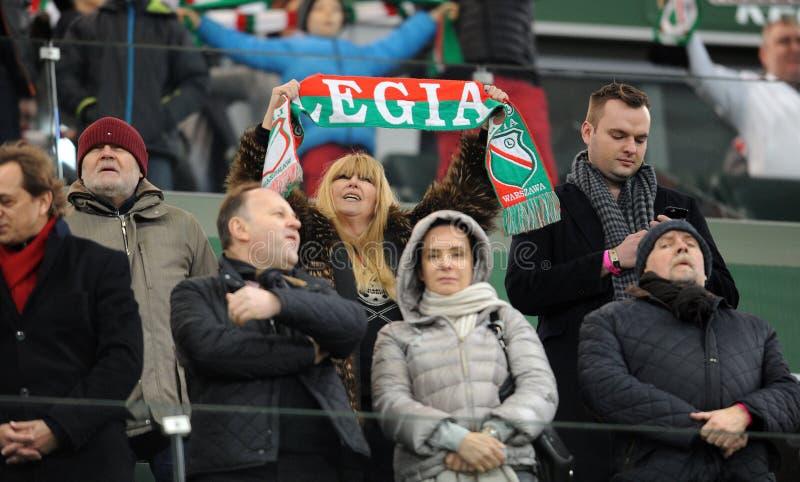T-передвижная дополнительная лига Legia Варшава Jagiellonia Bialystok стоковые фото