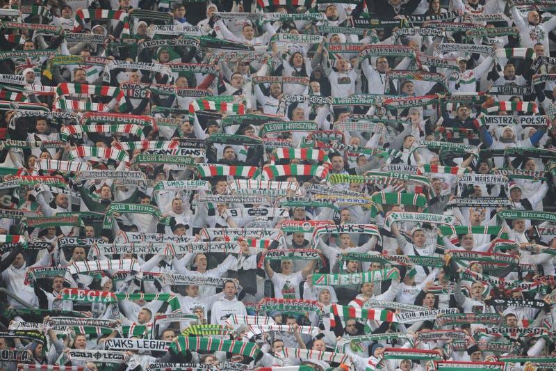 T-передвижная дополнительная лига Legia Варшава Jagiellonia Bialystok стоковая фотография rf