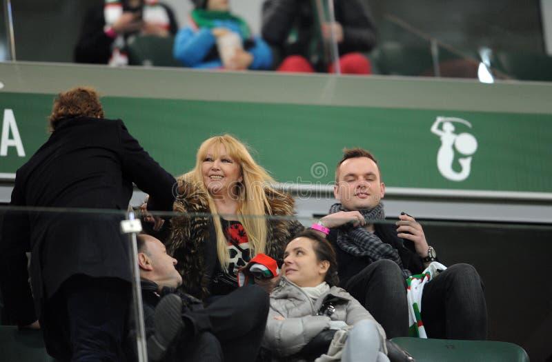 T-передвижная дополнительная лига Legia Варшава Jagiellonia Bialystok стоковые фотографии rf