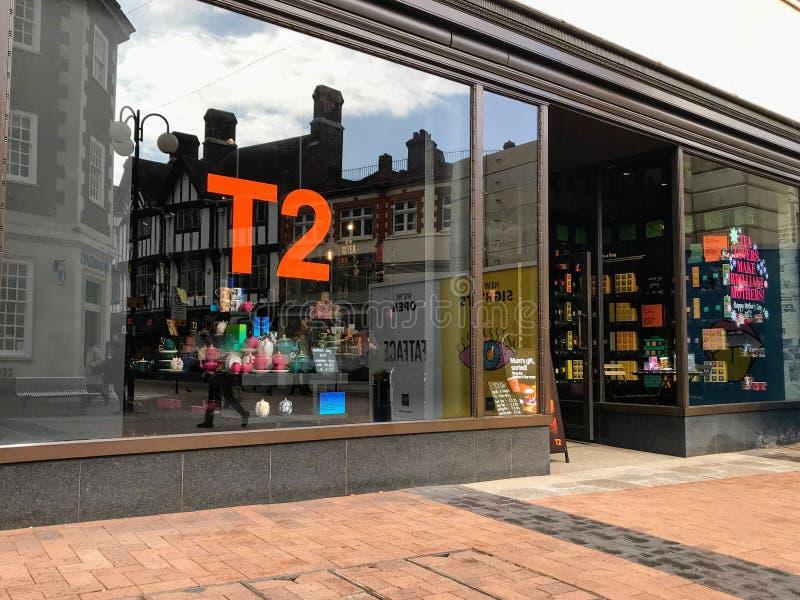 T2商店,伦敦 库存照片
