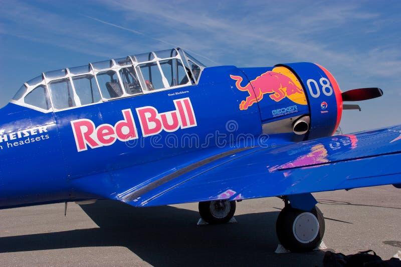 T-6德克萨斯的红色公牛 库存图片