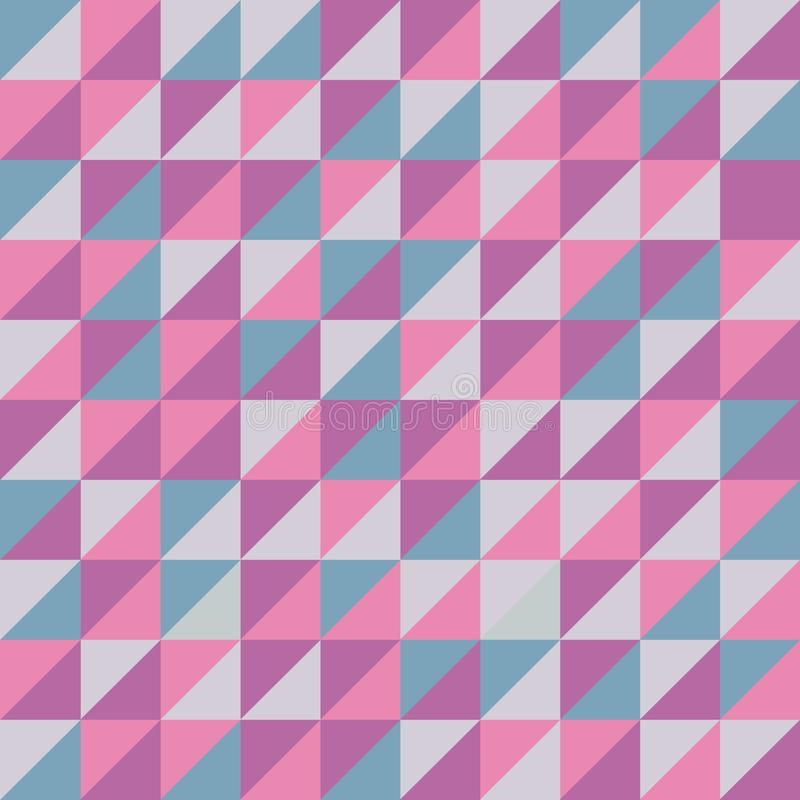 Seamless vector pattern with pink triangles. royalty free illustration