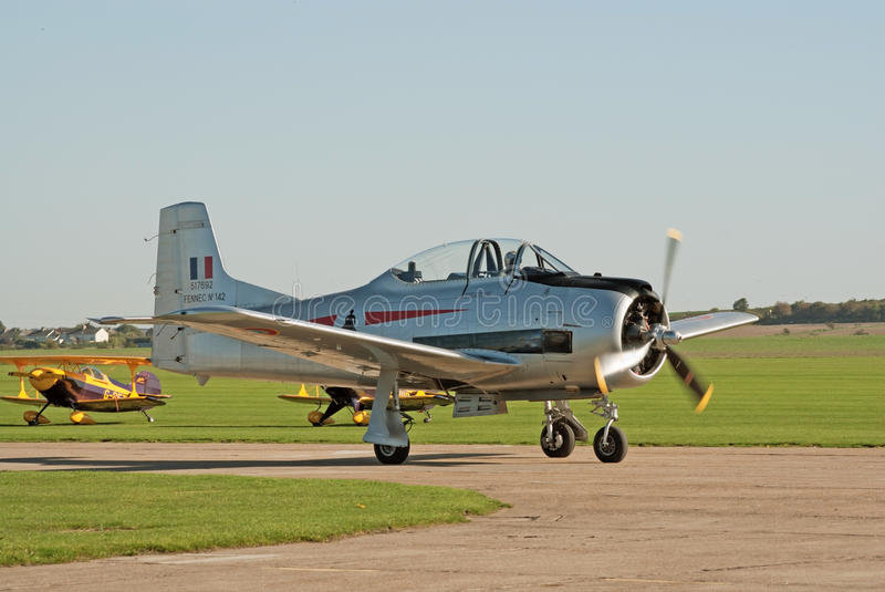 T-28 Fennec taxis for takeoff