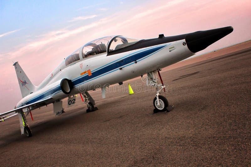 T-38爪美国航空航天局-宇航员喷气机培训人 免版税库存照片