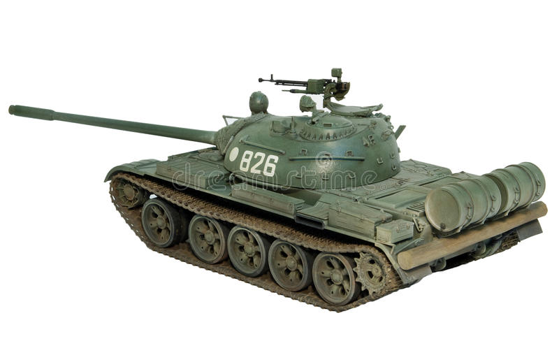 T-55A Scale Model royalty free stock photos