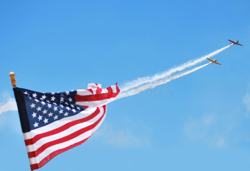 T-6 formazione al Denton, il Texas Airshow fotografie stock