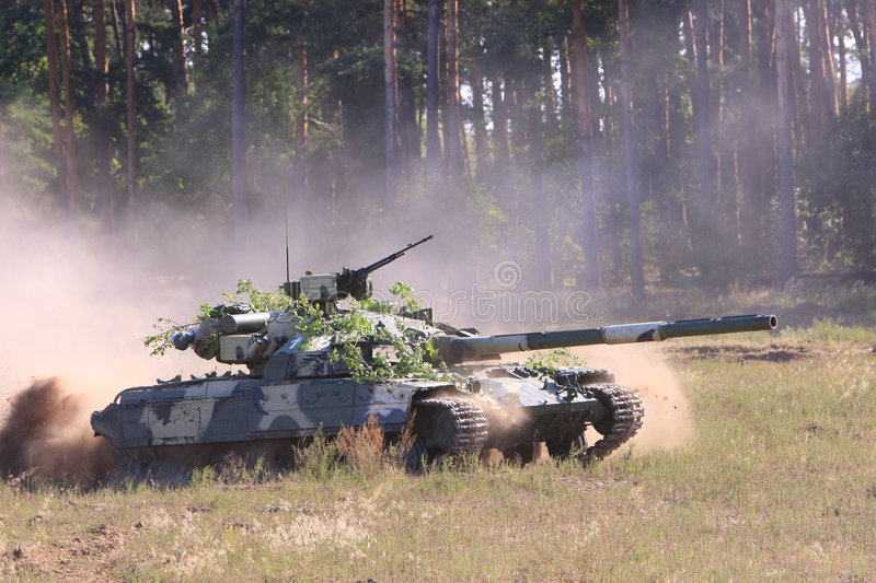 T-64BM Bulat Becken stockfotos