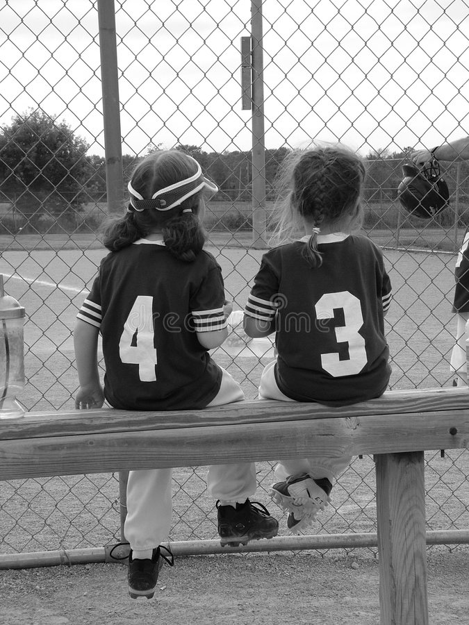 T-ball girls 2 stock photo