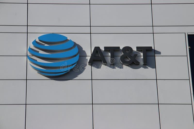 AT&T-bedrijf op de Beatrixpark-kantoren bij post Laan van Noi in Den Haag The Hague in Nederland royalty-vrije stock foto's