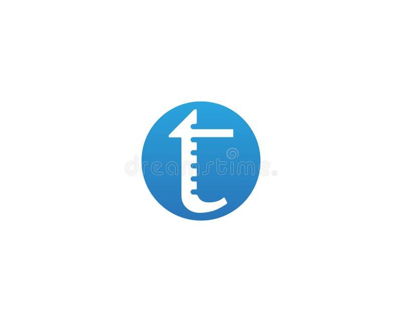 T beschriftet Logo- und Symbolschablonenikonen-APP lizenzfreie abbildung