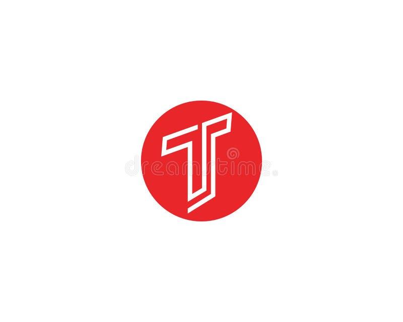 T beschriftet Logo- und Symbolschablonenikonen-APP stock abbildung