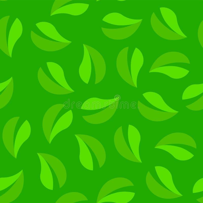 t?a bezszwowy zielony Zapętlający tekstura wzór ulistnienie ilustracji