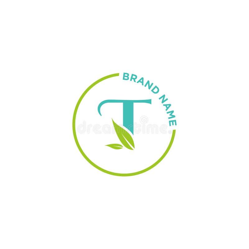 T-bokstavslogo eller initialer för affär stock illustrationer
