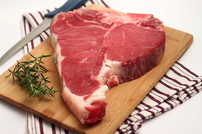 T-bone steak. Declicious T-bone steak for barbecue stock photos