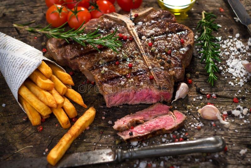 T-Bone-Steak stockfoto