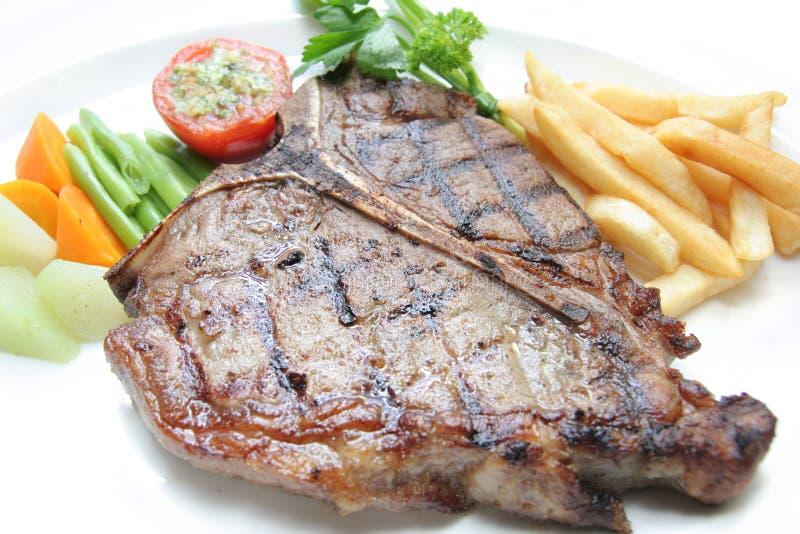 Download T-bone steak stock photo. Image of bone, grill, food, macro - 7662476