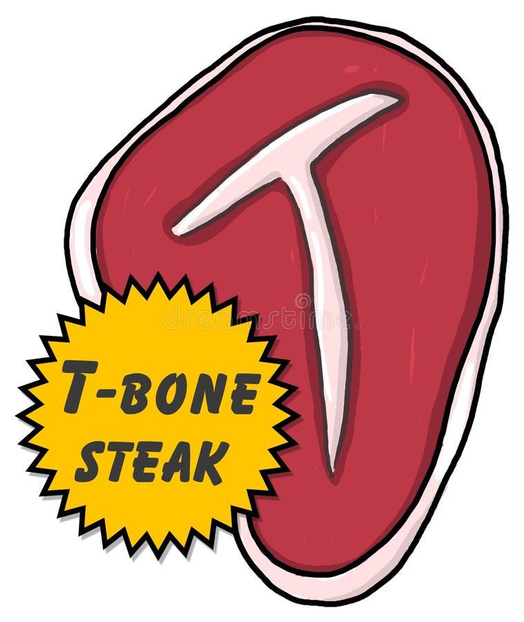 Download T-bone Steak Illustration Royalty Free Stock Photos - Image: 12707028