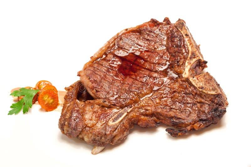 T-bone wołowiny stek obrazy royalty free
