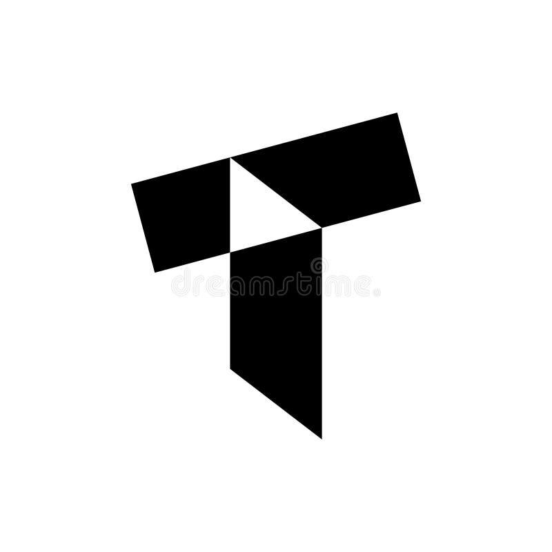 T brievenembleem vector illustratie