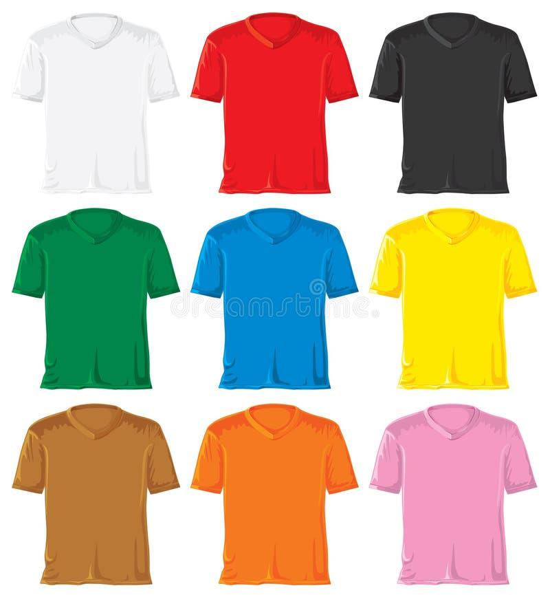 T- camisa fijada con el collar del triángulo stock de ilustración