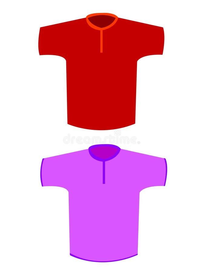 T- camisas ilustração royalty free