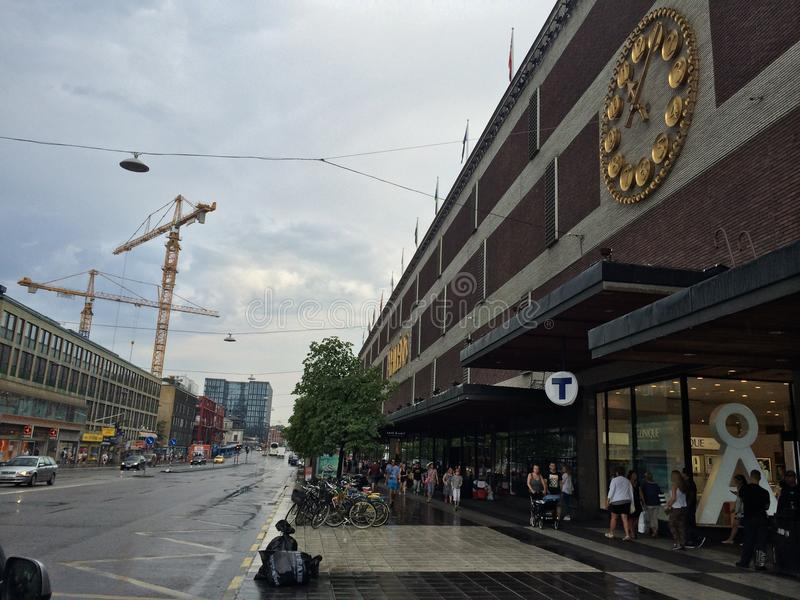 T Central Station of Downtown Stockholm stock image