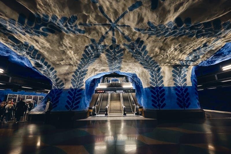 T-Centralen Subway Station in Stockholm, Sweden stock photo