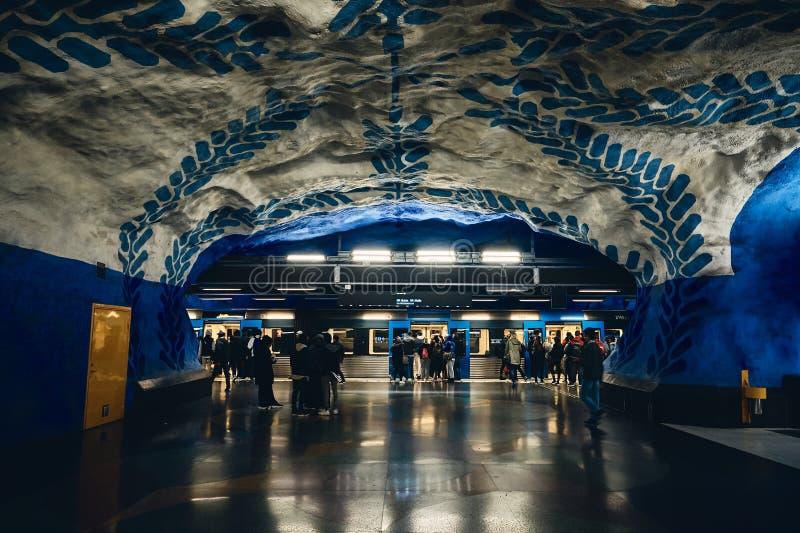 T-Centralen Subway Station in Stockholm, Sweden stock image