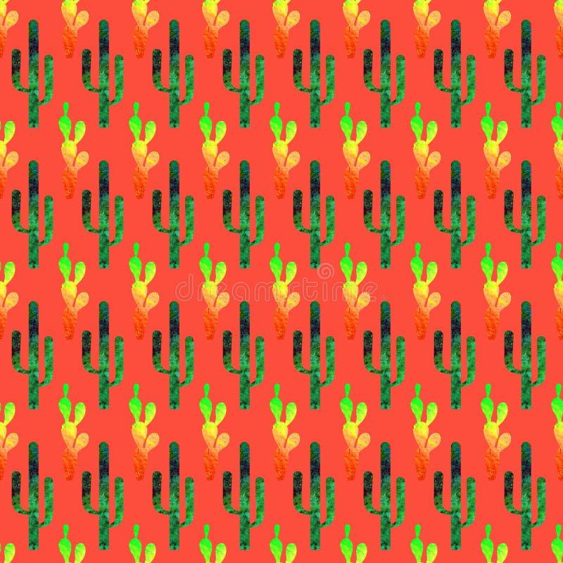t?a cinco de Mayo Akwareli tekstury bezszwowy wz?r ilustracja wektor