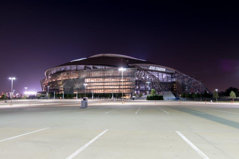 AT&T Cowboys arena illuminated at night royalty free stock photography