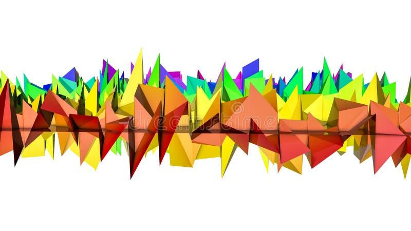 T?czy szpotawy tr?jwymiarowy abstrakcyjny t?o 3 d czyni? ilustracji