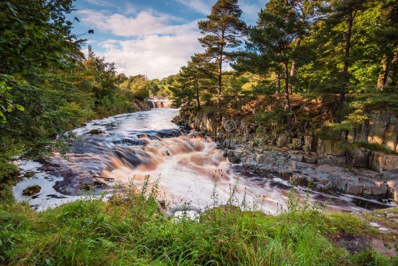 T del fiume sotto forza bassa fotografia stock