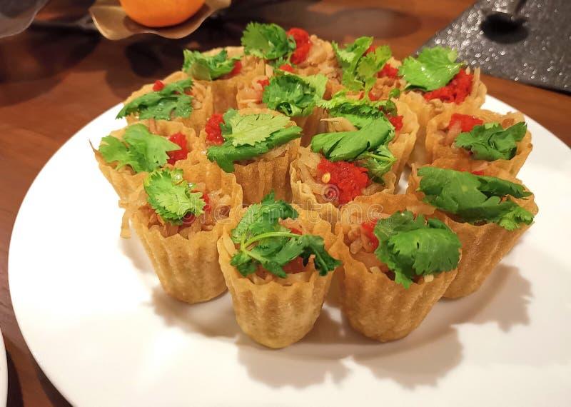 T della torta di Nonya Kuih fotografia stock