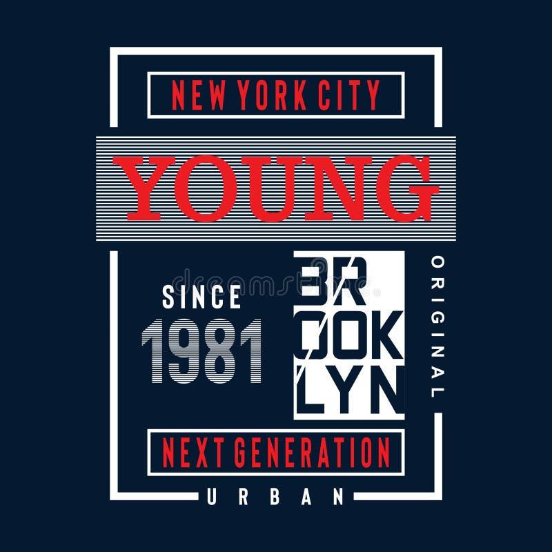 T di progettazione di typoraphy di Brooklyn royalty illustrazione gratis