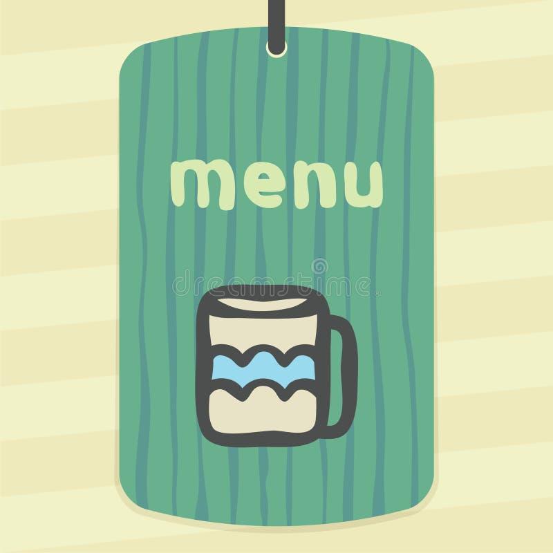 T do esboço do vetor ou ícone do copo de café Logotipo infographic moderno e pictograma ilustração stock