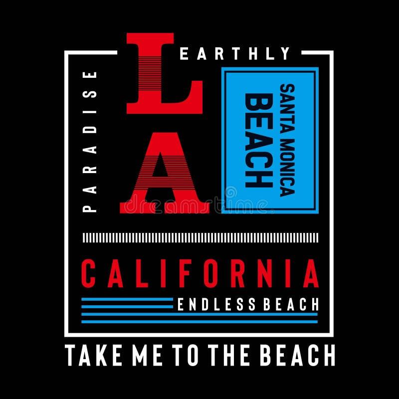 T do projeto da tipografia de Califórnia, Los Angeles ilustração do vetor