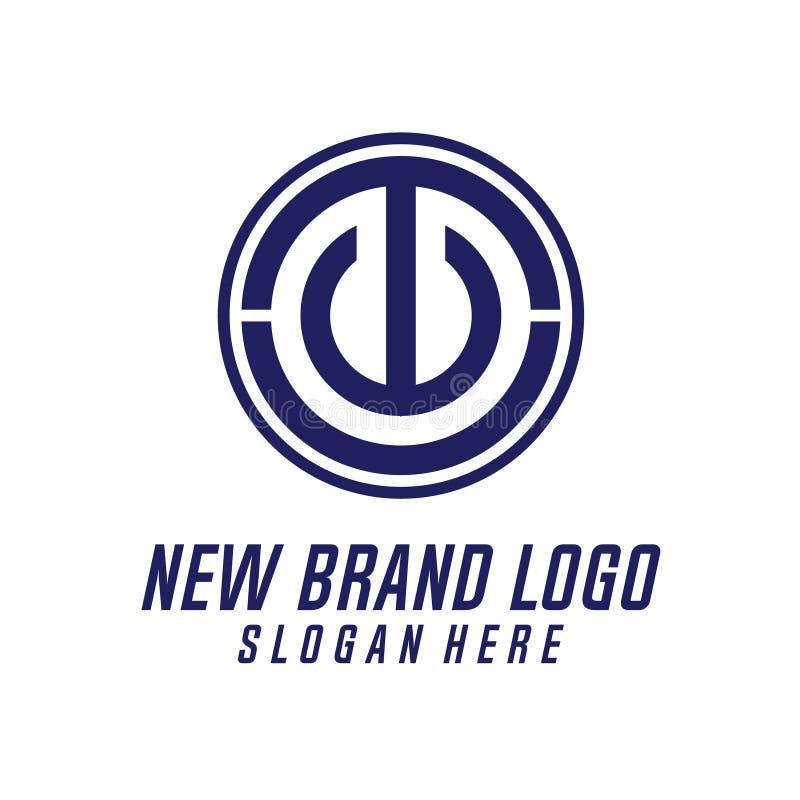T & elemento do vetor do projeto do logotipo da letra de C, T & U Logo Vetora, T, C, & U Logo Icon, logotipo do ícone da seguranç ilustração stock