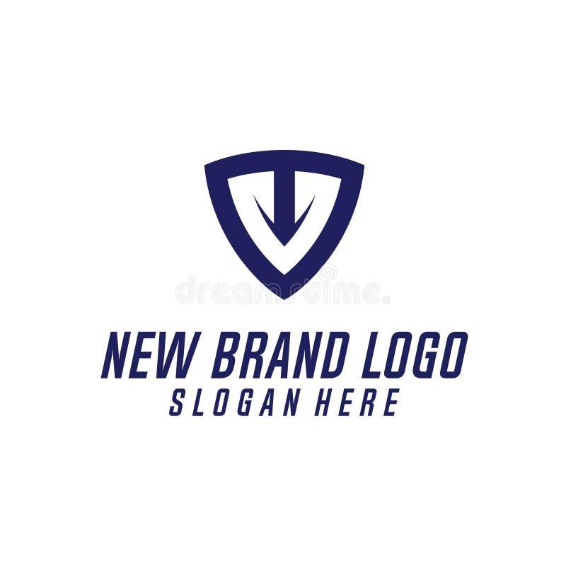 T & elemento do vetor do projeto do logotipo da letra de C, T & U Logo Vetora, T, C, & U Logo Icon, logotipo do ícone da seguranç ilustração do vetor