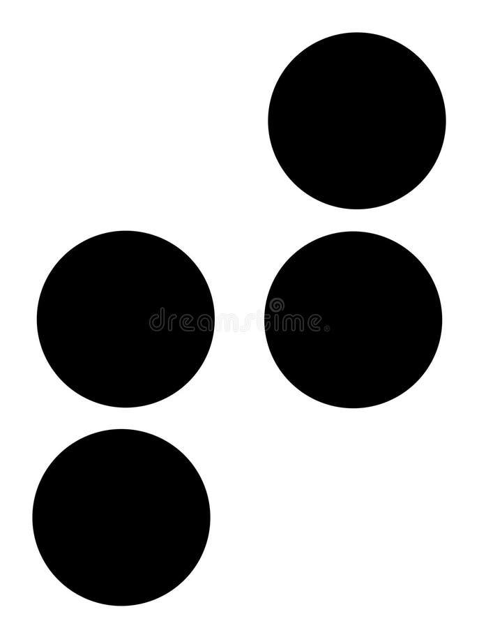 T em braille ilustração do vetor