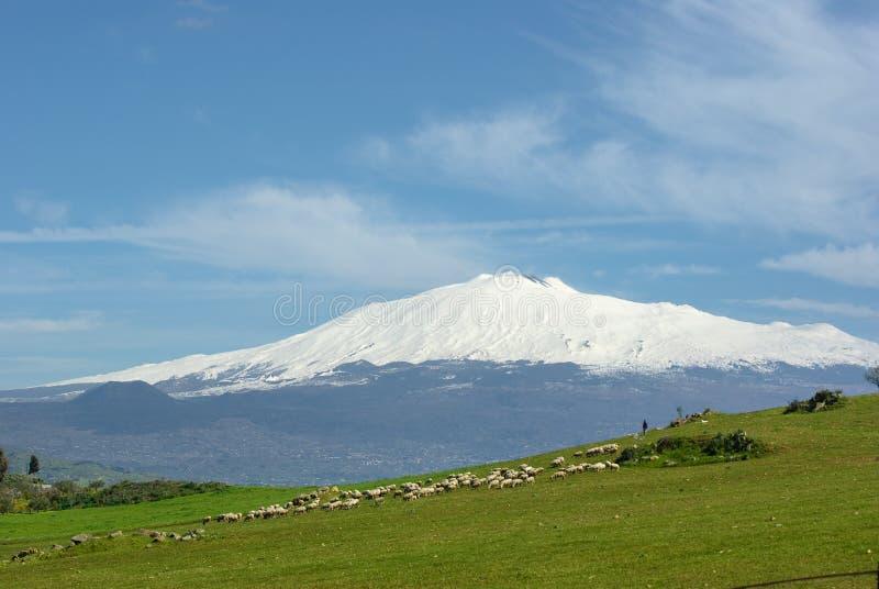 Download Tła Etna tabunowy wulkan obraz stock. Obraz złożonej z kraj - 13335395