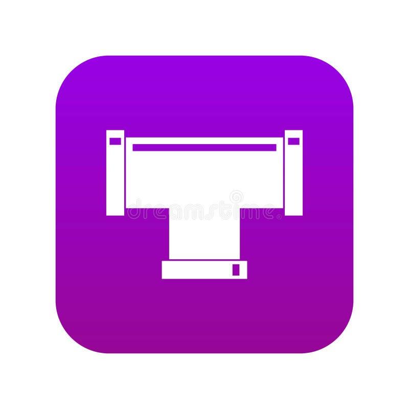 T fajczanego związku ikony cyfrowe purpury royalty ilustracja