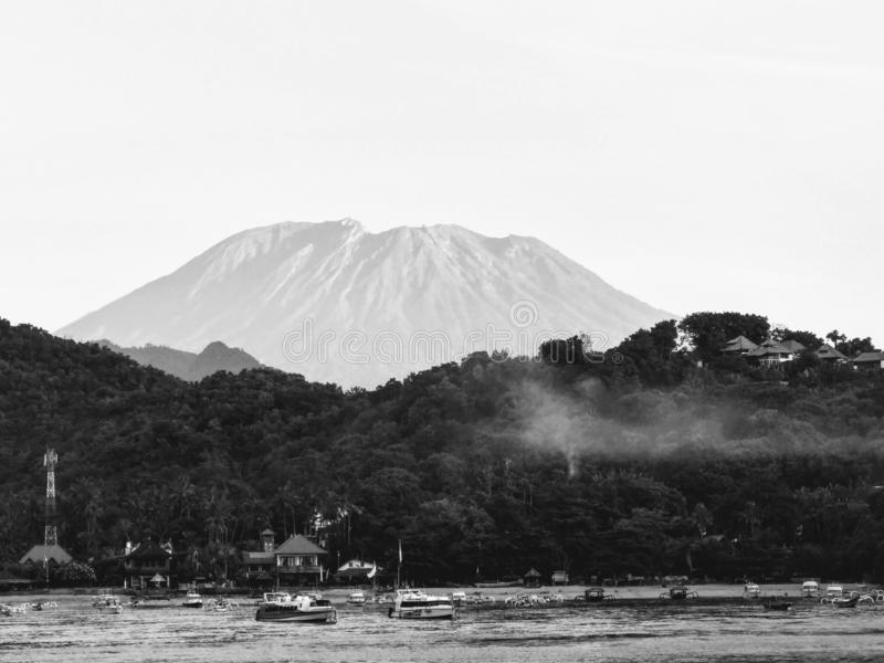 The Great Mount Agung, Bali Indonesia. T Great Mount Agung, Bali Indonesia stock images