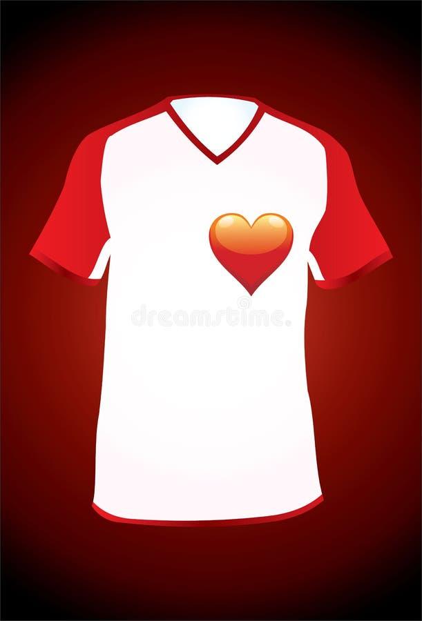 T-Hemd-Liebe lizenzfreie abbildung