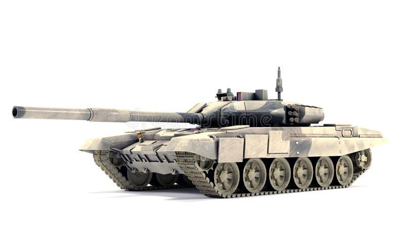 T-90 hoofddieGevechtstank, op witte achtergrond wordt geïsoleerd stock illustratie