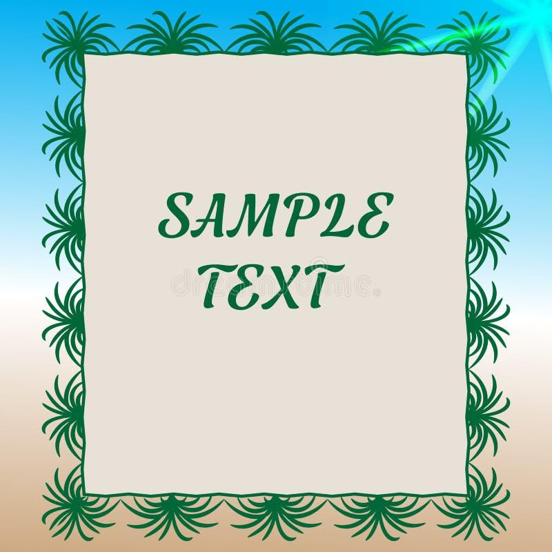 t?a ilustracyjny palmowy lato drzew wektor ilustracji