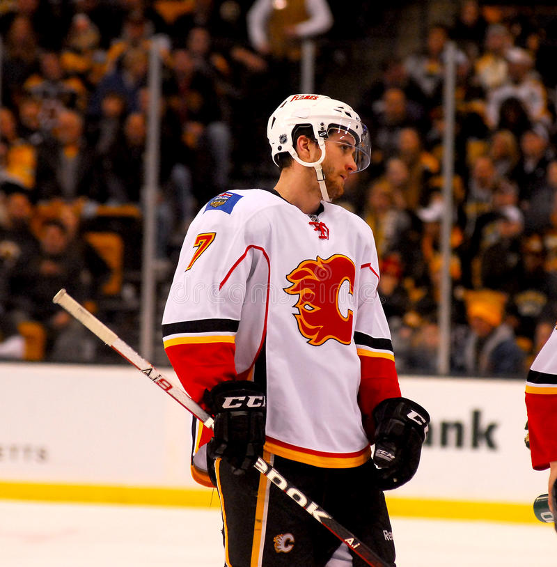 Download T.J. Brodie Calgary Flames editorial stock photo. Image of professional - 23488323