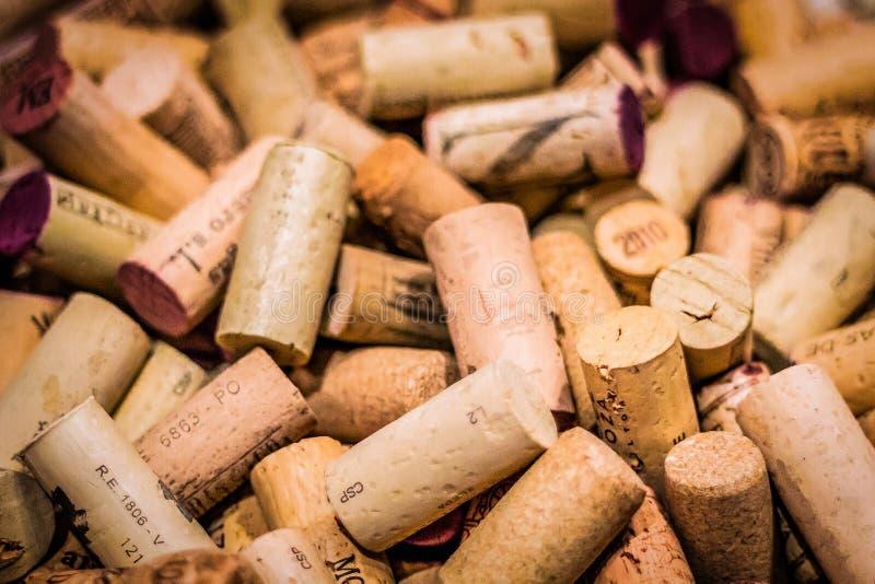 t?a kork?w wino zdjęcia royalty free