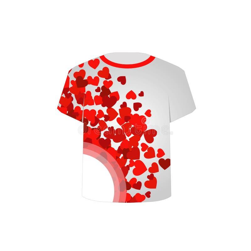 T koszula szablon ilustracji