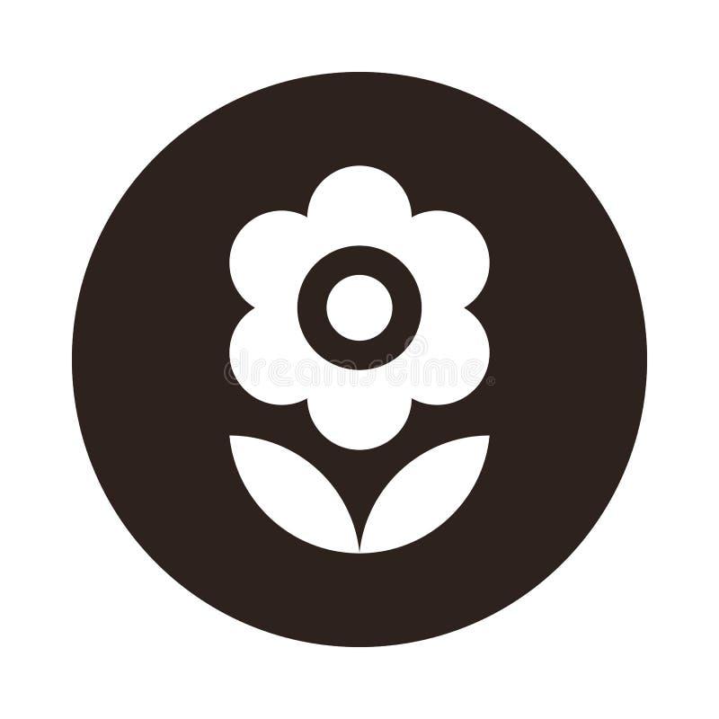 t?a kwiatu ikony ilustracyjny setu wektoru biel royalty ilustracja